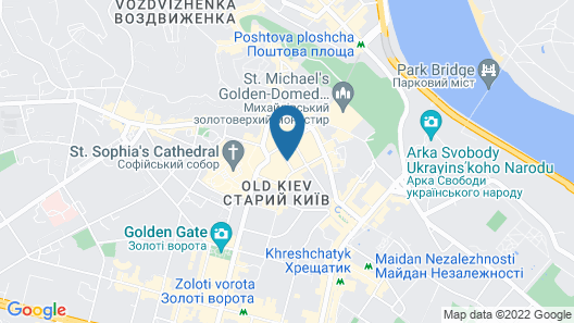 Hyatt Regency Kiev Map