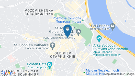 InterContinental Kyiv Map