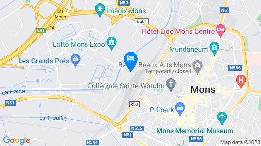 Van Der Valk Hotel Mons Congres Map