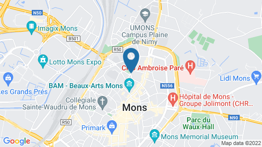 Apart - Hotel Saint Georges Map