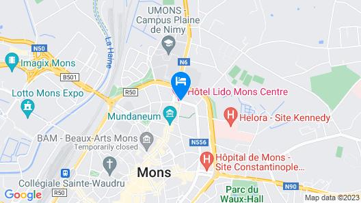Hotel Lido Mons Centre Map