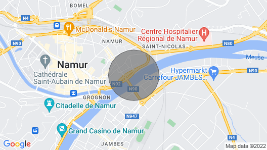Luxury Boat Near Namur Center - Max 8. People Map