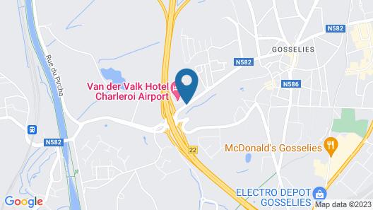 Van Der Valk Hotel Charleroi Airport Map