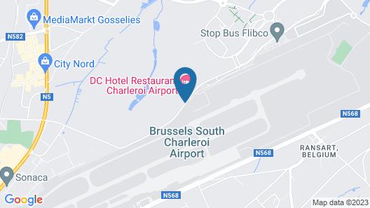 DC Hotel Charleroi Airport Map
