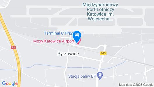 Moxy Katowice Airport Map