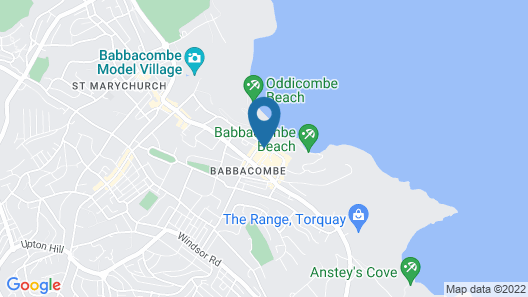 The Downs Babbacombe Map