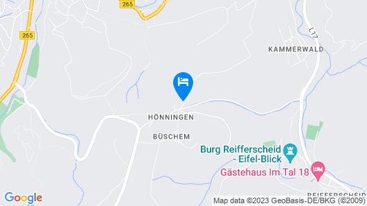 Serene Chalet in Hönningen Eifel With Garden Map