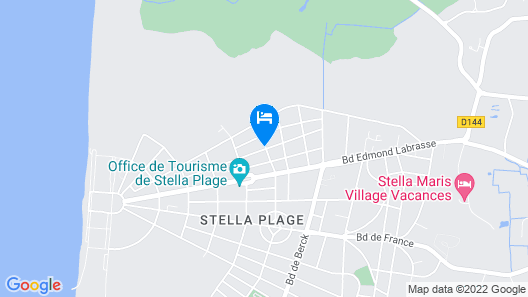 L'appart Stella-plage Map