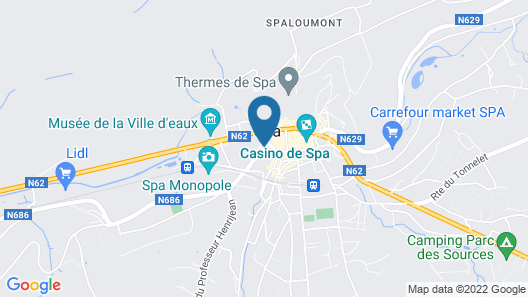 Hotel La Villa des Fleurs Map