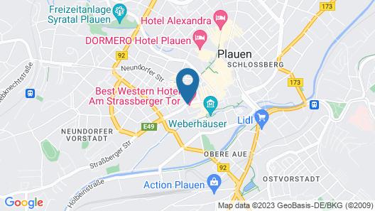 Best Western Hotel Am Strassberger Tor Map