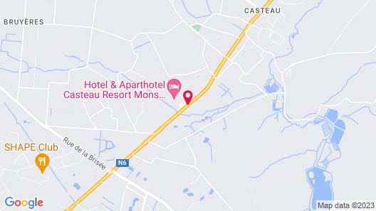 Hotel & Aparthotel Casteau Resort Mons Map