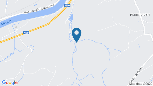 Cozy Villa Near Forest in Huy Map