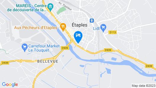 Logis Hôtel Côte d'Opale Map