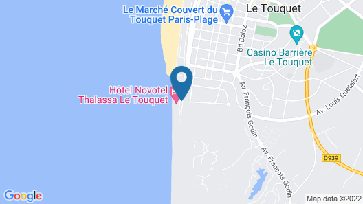 Novotel Thalassa Le Touquet Hotel Map