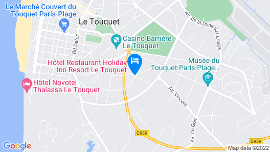 Holiday Inn Resort Le Touquet Map