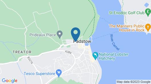 Padstow Breaks - Malt Cottage Map