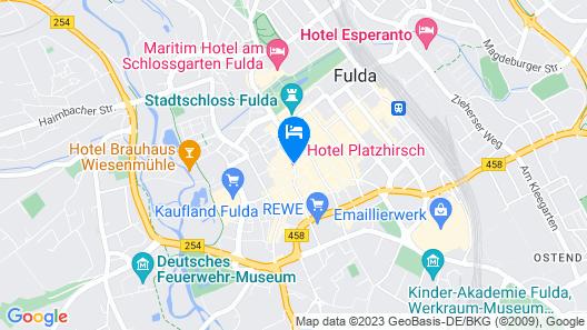 TOP CityLine Hotel Platzhirsch Fulda Map