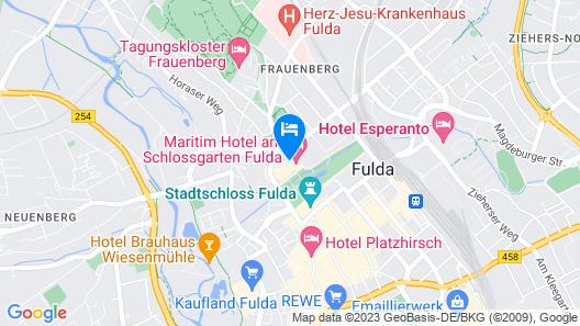 Maritim Hotel am Schlossgarten Fulda Map