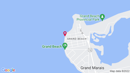 Grand Beach Lakefront Cabin Map