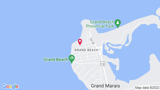 Cozy Waterfront Cottage in Grand Beach Manitoba Map