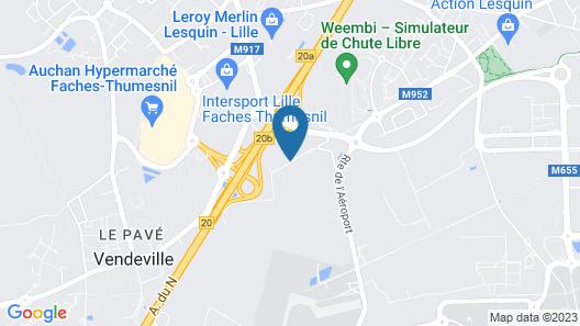 ibis Styles Lille Aeroport Map