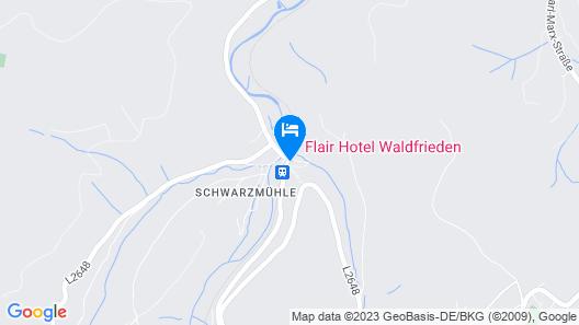 Flair Hotel Waldfrieden Map