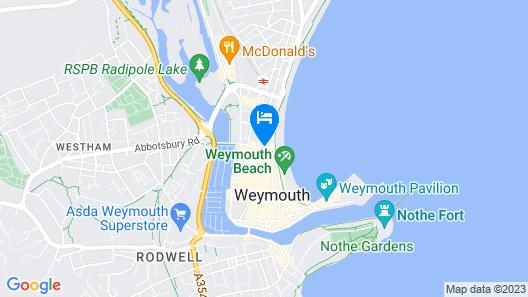 B&B Weymouth Map