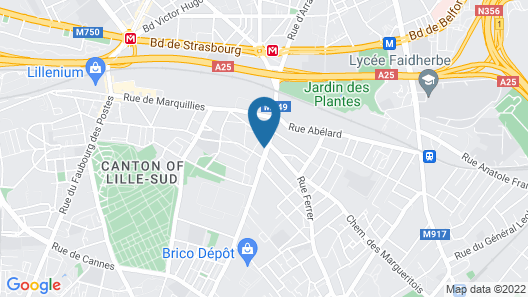 Nord Hotel Lille Map