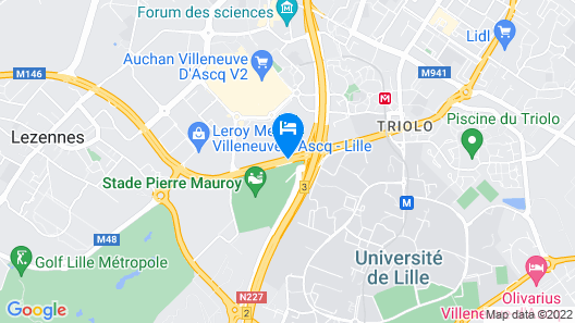 Tulip Inn Lille Grand Stade Residence Map