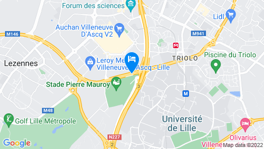 Park Inn by Radisson Lille Grand Stade Map