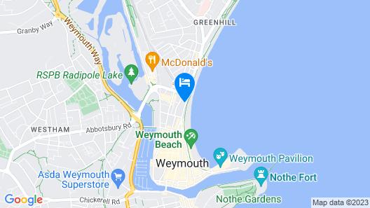 Weymouth Beach B&B Map