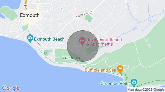 Exmouth Studio Sleep 4 With Leisure Facilities Map