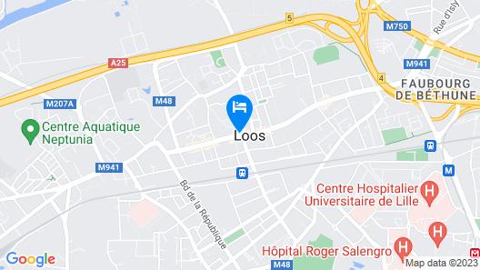 Best Western Le Beffroi Map