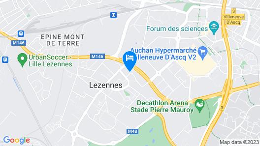 B&B Hotel Lille Lezennes Stade Pierre Mauroy Map