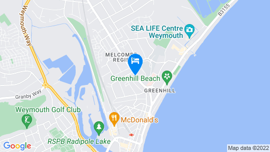 Best Western Weymouth Hotel Rembrandt Map