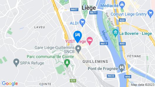 ibis Styles Liege Guillemins Map