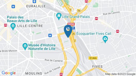 Appart'City Confort Lille Grand Palais Map