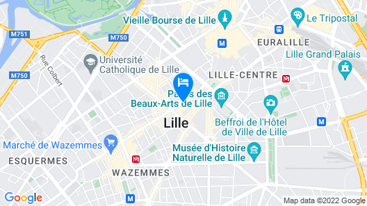 Holiday Inn Express Lille Centre Map