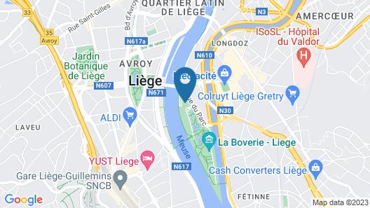Van der Valk Hotel Liège Congrès Map