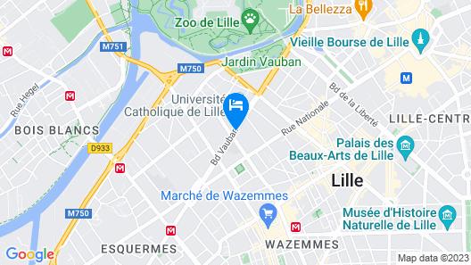 Residhotel Lille Vauban Map