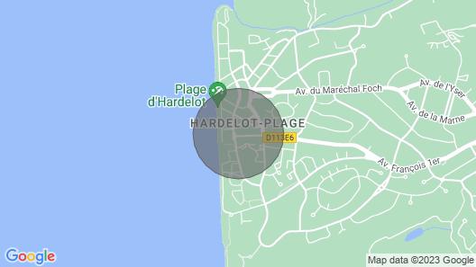 Appartement Avec Terrasse au Centre D'hardelot Plage, Prox Mer, 1 à 4 Personnes Map