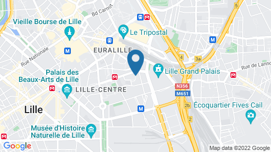 Ibis Lille Centre Grand Palais Map