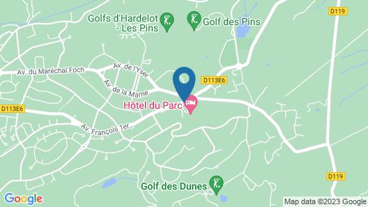 Najeti Hôtel du Parc Map