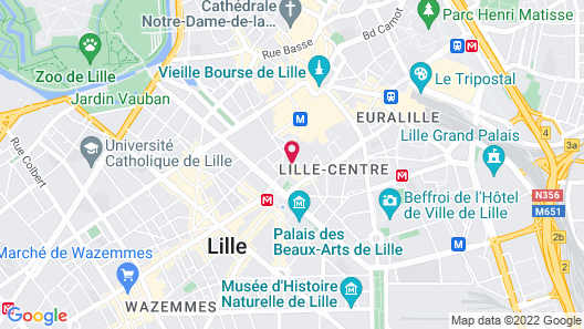 Lille Avenue - Maison Lille Centre, Convivialité, Confort Map
