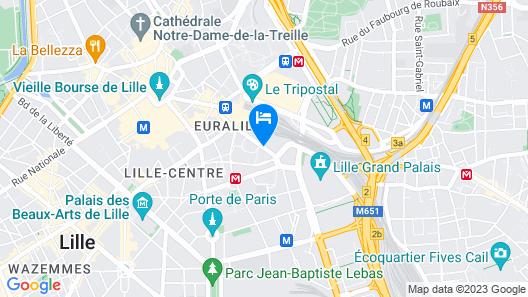 Novotel Lille Centre Gares Map