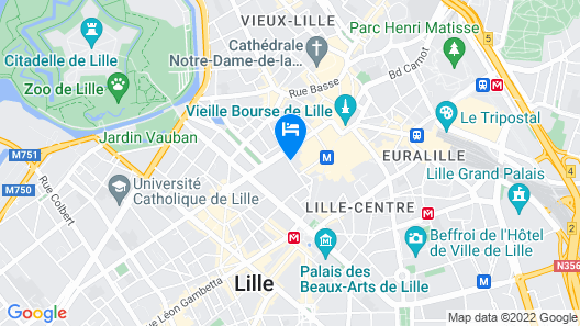 Aparthotel Adagio Lille Centre Grand Place Map