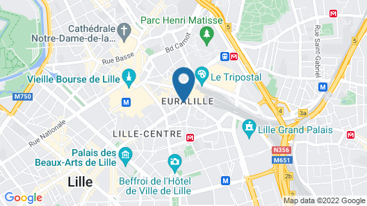 Hotel CALM Lille Map