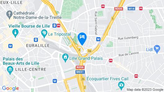 KYRIAD LILLE GARE - Grand Palais Map