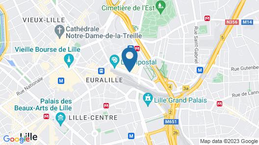 Séjours et Affaires Lille Europe Map