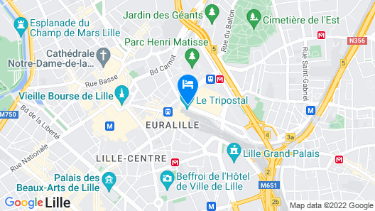 Citadines City Centre Lille Map
